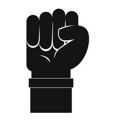 fist icon simple style vector image vector image