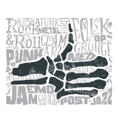 Print for T-shirt Rock music vector image