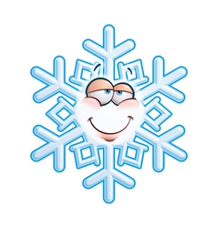 SnowFlake Emoticon In Love vector image vector image