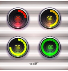 Colorful Loading spinners Preloader Progress Web vector image