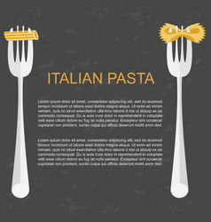 concept for pasta label vector image
