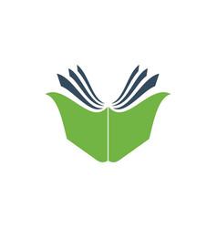 creative open book logo vector image vector image