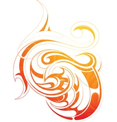 Fire flame tattoo as graphic design element vector image vector image