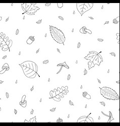 seamless pattern of atumn elements vector image