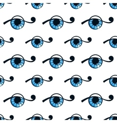 seamless pattern with abstract eye vector image vector image