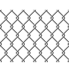 Steel mesh metal fence seamless structure vector image vector image