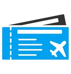 Airtickets Flat Icon vector image