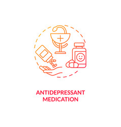 Antidepressant medication concept icon vector