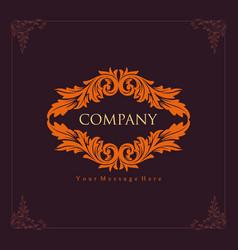 antique company engraving logo design vector image