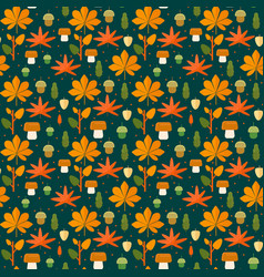 Autumn foliage seamless pattern vector