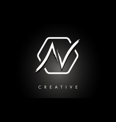 av a v brushed letter logo design with creative vector image