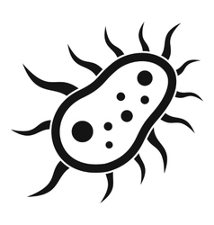 Bacteria centipede icon simple style vector