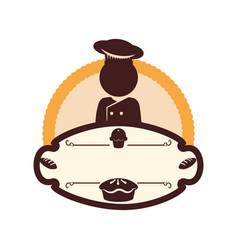 Baker chef bakery emblem vector