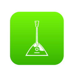 balalaika icon digital green vector image