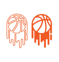 basketball with paint vector image