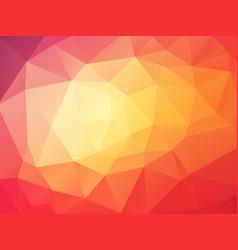 Beautifully orange red geometric background vector