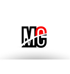 Black white alphabet letter mc m c logo icon vector