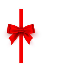 bow red tape on white background vector image