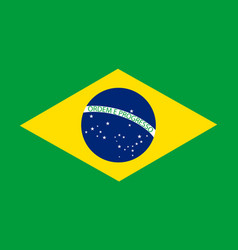 brazil flag official brasil icon national symbol vector image
