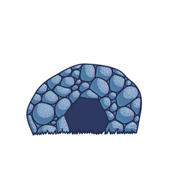 cartoon cave vector image