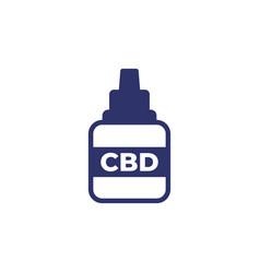 Cbd medicine icon on white vector