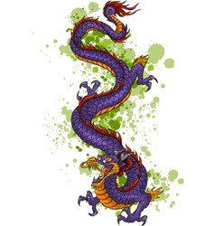 Chinese dragon of power and wisdom flying cartoon vector