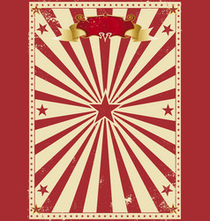 Circus red vintage vector