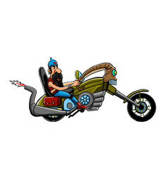 Colored motorcycle and freedom image vector