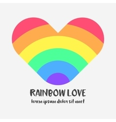 Conceptual logo with a rainbow heart vector