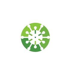 coronavirus icon logo design element vector image