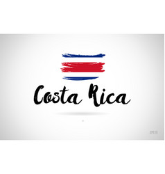 Costa rica country flag concept with grunge vector