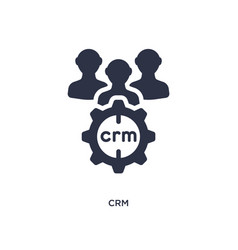 Crm icon on white background simple element from vector
