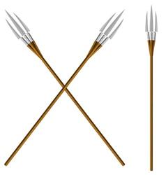 Crossed fantastic forks vector image vector image