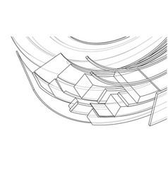 design spiral elements vector image