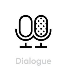 dialogue icon editable outline vector image