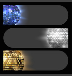 Disco ball discotheque card music party night club vector