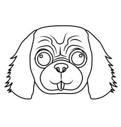 Dog face icon vector