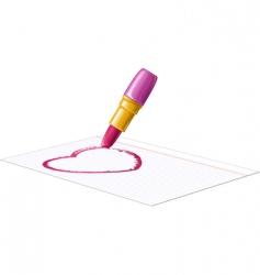 drawing heart vector image