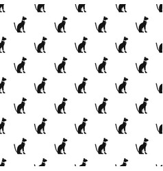 egyptian cat pattern vector image