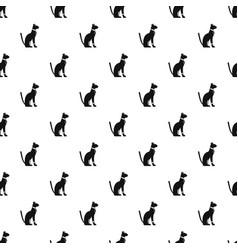 Egyptian cat pattern vector