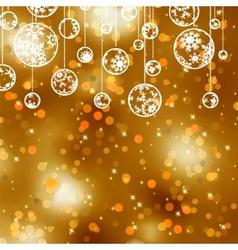 Elegant gold christmas vector