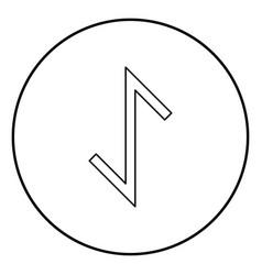 Eywas rune yew strength egis symbol icon outline vector