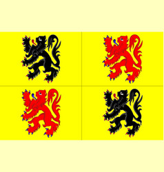 Flag of hainaut in belgium vector