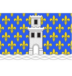 Flag of niort in deux-sevres of vector