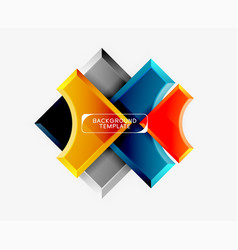 geometrical 3d shapes background vector image