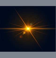 Glowing flash realistic lens flare effect vector