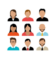 Group people avatar character vector