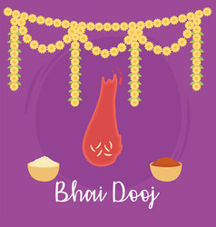 happy bhai dooj indian family celebration vector image