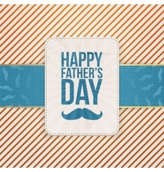 Happy Fathers Day striped Background Template vector