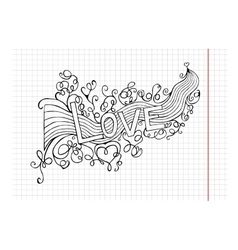 Heart birth love with rainbow hand-drawn vector